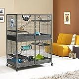 Großer Käfig für kleine Haustiere, XL, Frettchen, Ratten, Chinchillas, Degus Chipmunks